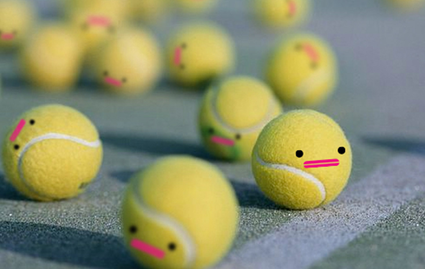 Capsubeans Instagram VR Image - Cartoon Character Licensing Kids - Cute tennis balls with bean face - Rikki Mobile